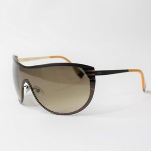 Vintage Fendi Big Frame Sunglasses FF 0057 Brown